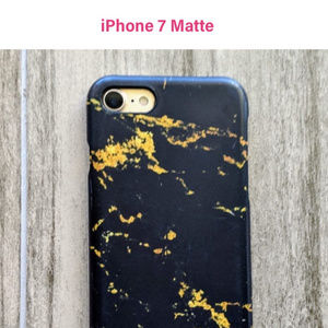 Black and Gold Marble Matte iPhone 7 Case
